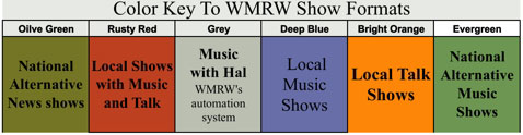 wmrw schedule color key